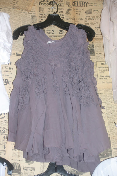 Muddy Purple Ruffled Tank
