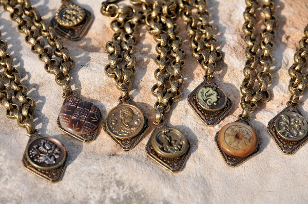 Beautiful Antique button jewelry