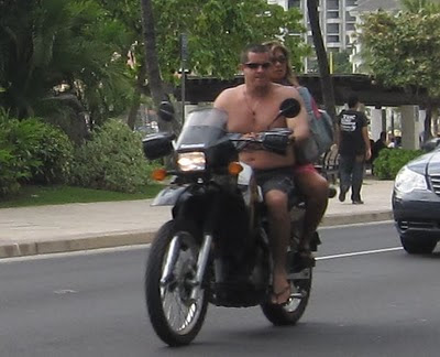 motorcycle riding in Hawaii