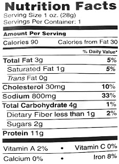 cedar creek beef jerky nutrition