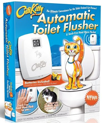 automatic toilet flusher for cats