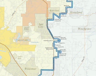 Menifee Congressional District Map