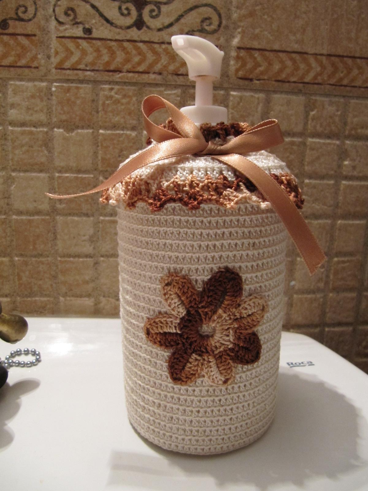 Imagenes De Jabon De Baño: de Mari Angeles: Funda de Crochet para tarro de jabón del cuarto de