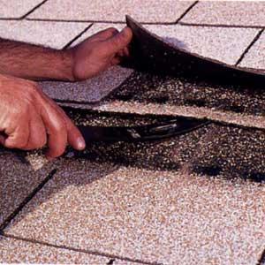 Fixing Damaged Roof Shingle