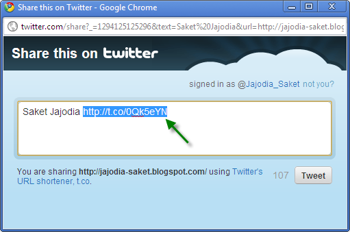 How To Shorten Your URL Using Twitter Shorten URL (t.co)