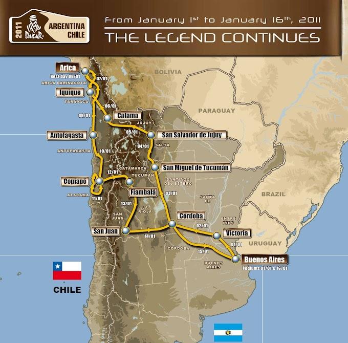 Se anunció el recorrido del Rally Dakar 2011,que vuelve a Argentina y Chile