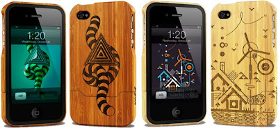 grovemade bamboo cool iPhone 4 cases-laser engraved design image
