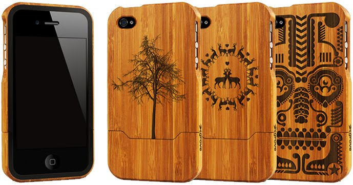 grovemade bamboo laser engraved cool iPhone 4 cases