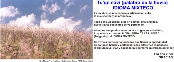IDIOMA MIXTECO - Tu'u̲n sávi (palabra de la lluvia)