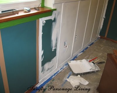 remodelaholic  master bedroom remodel with white wainscoting panels, Bedroom decor