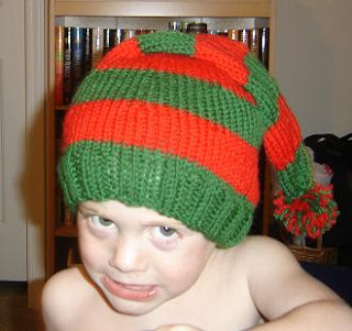 Knitted Elf Pattern : Taras Knits: Elfs Hat