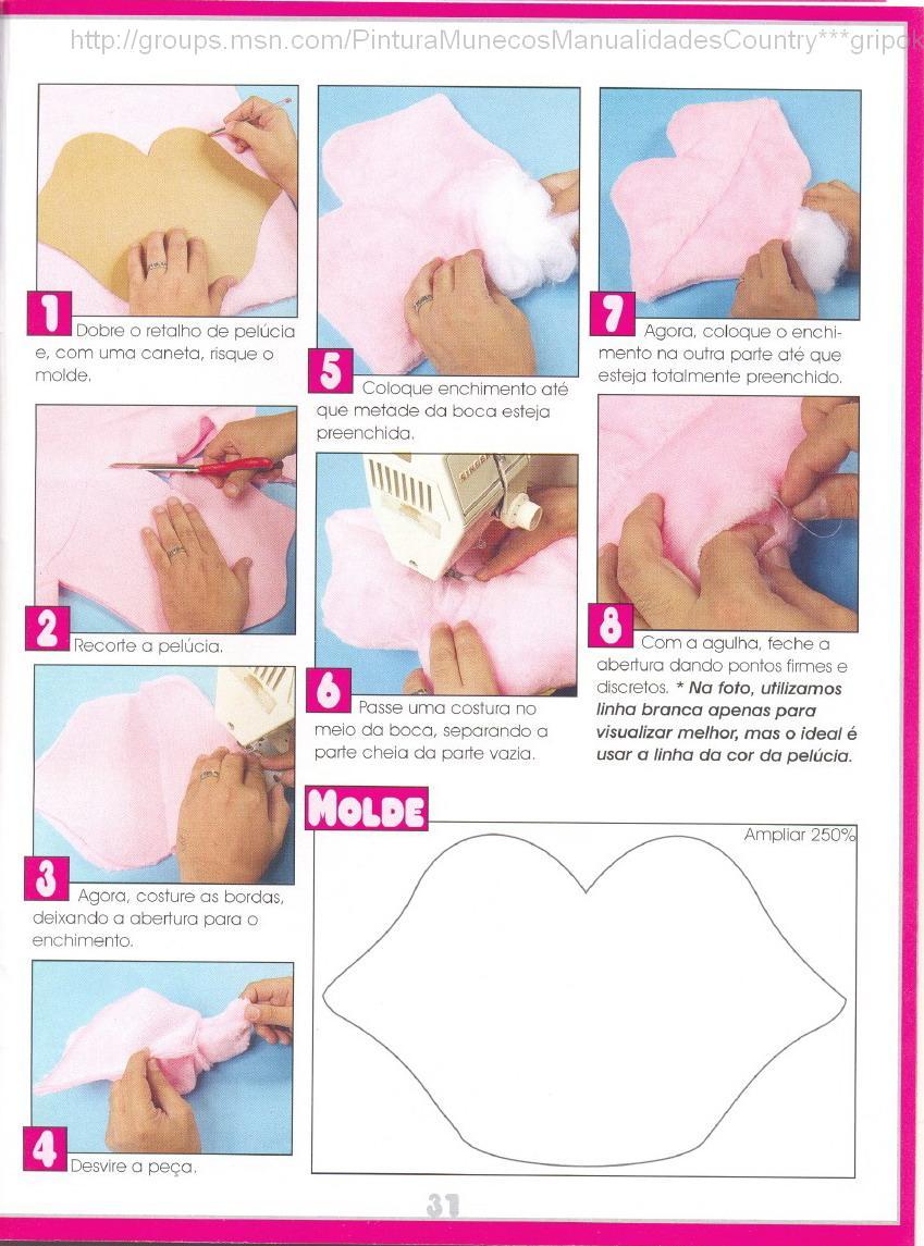 Сделать подушку губы своими руками