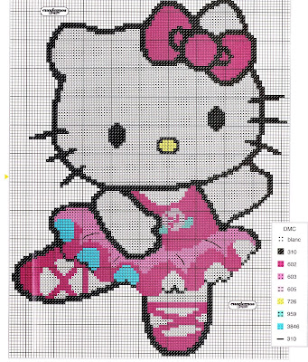 Ponto Cruz - Hello Kitty 2