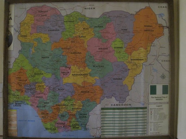 Map Of Nigeria With States. Here is Nigeria with its 36