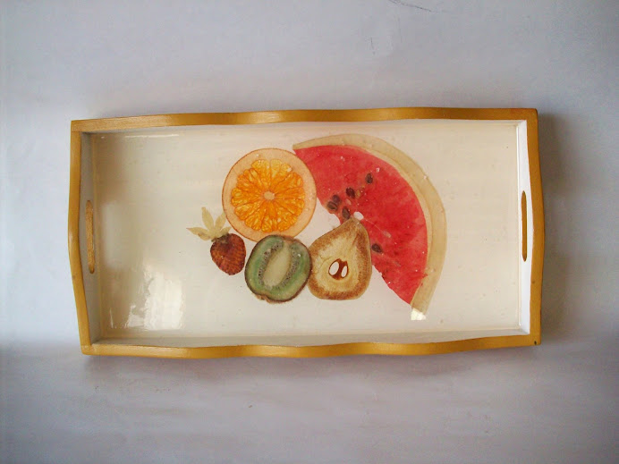 bandeja fruta prensada