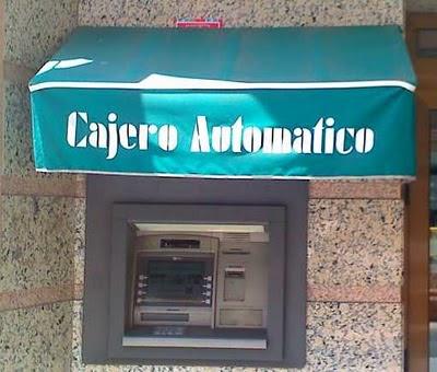 cajero automático con toldo