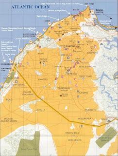Kaart van Gambia