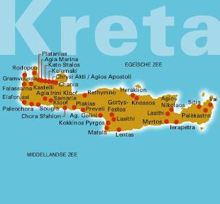 Kaart van Kreta