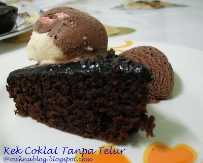 Meknablog Bake At Home Kek Coklat Tanpa Telur Kak Dj