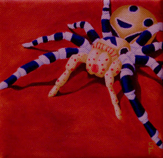Harlequin Spider Acrylic Painting