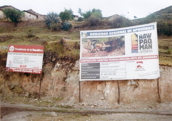 CONSTRUCION DE LA CARRETERA PICHIHUA-CHECCASA