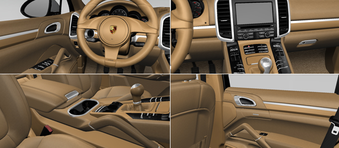 Porsche cars accessories exclusive interior Porsche cayenne interior parts