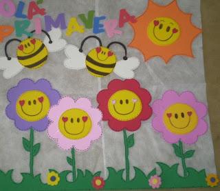 Bem vinda primavera a arte de ensinar e aprender for Mural de flores y mariposas