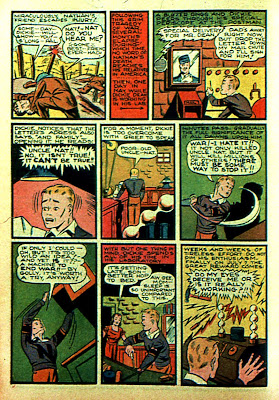 Boy inventor is shown in this vintage old comic book from 1940.