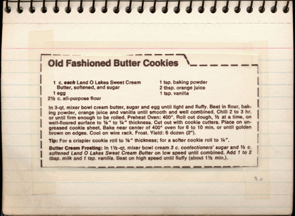 Memere S Favorite Recipes Old Fashioned Butter Cookies