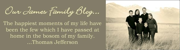 Our James Family Blog