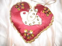 Coração Almofada