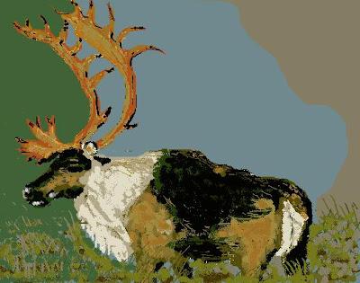 An elk or deer, maybe a moose
