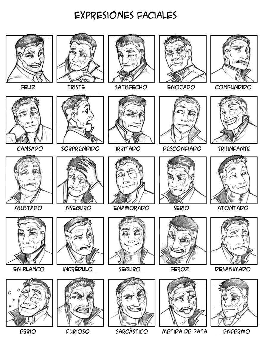 Taller de dibujolandia: Expresiones faciales