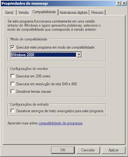 MSN 2009 com problemas?