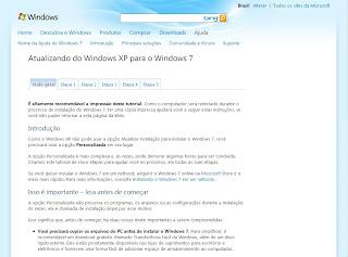 Atualizando Windows XP para o 7