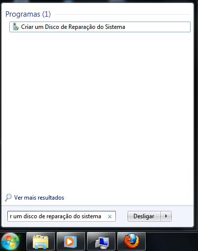 Disco de Reparação para Windows 7