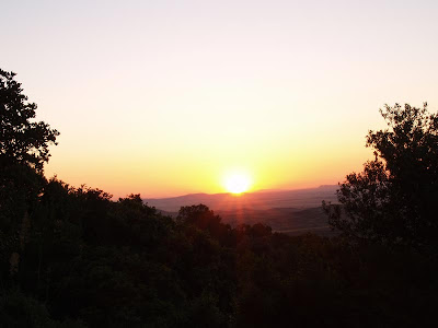 Sunset through the bushes,Zaghouan, Zagwane, tunisa