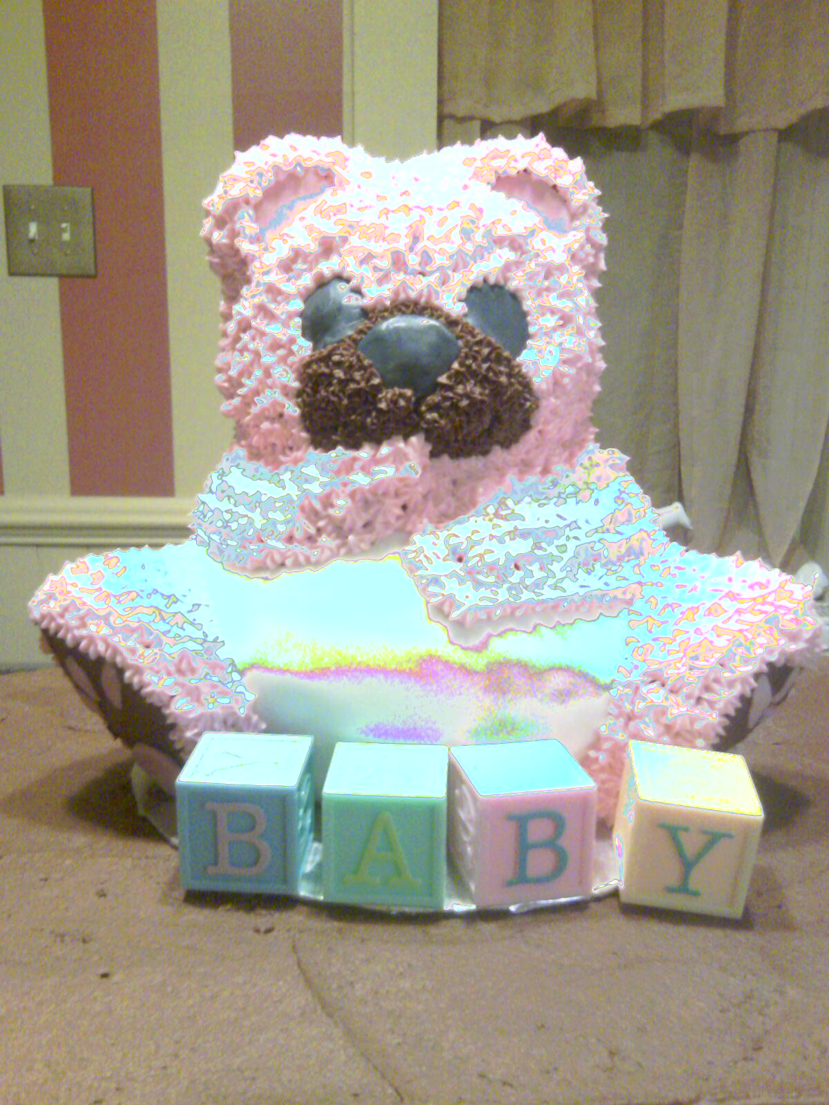 Chocolate Teddy Bear Baby Boys Bedding 9pc Crib Set Click To