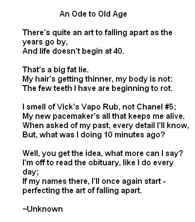 poems that are funny. funny retirement poems here: