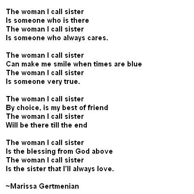 love you sister poems. poems for a sister. love you