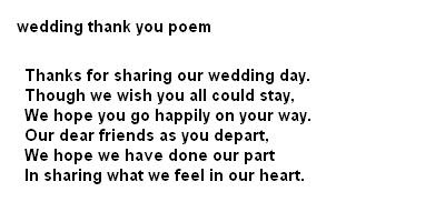 Wedding Poetry