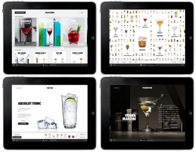 Absolut Drinkspiration iPad app images