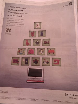 John Lewis Christmas newspaper ad full version with QR code