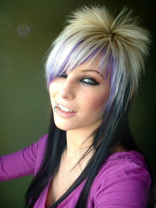 funky emo hairstyles. cool blonde emo haircuts are