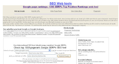 Tool use to find SERP