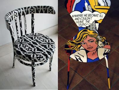 pin by janet re on folk painted pop tramp art furniture pinterest. Black Bedroom Furniture Sets. Home Design Ideas