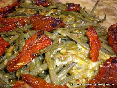 Receta judias verdes mostaza antigua al horno haricots - Cuisiner des haricots beurre ...