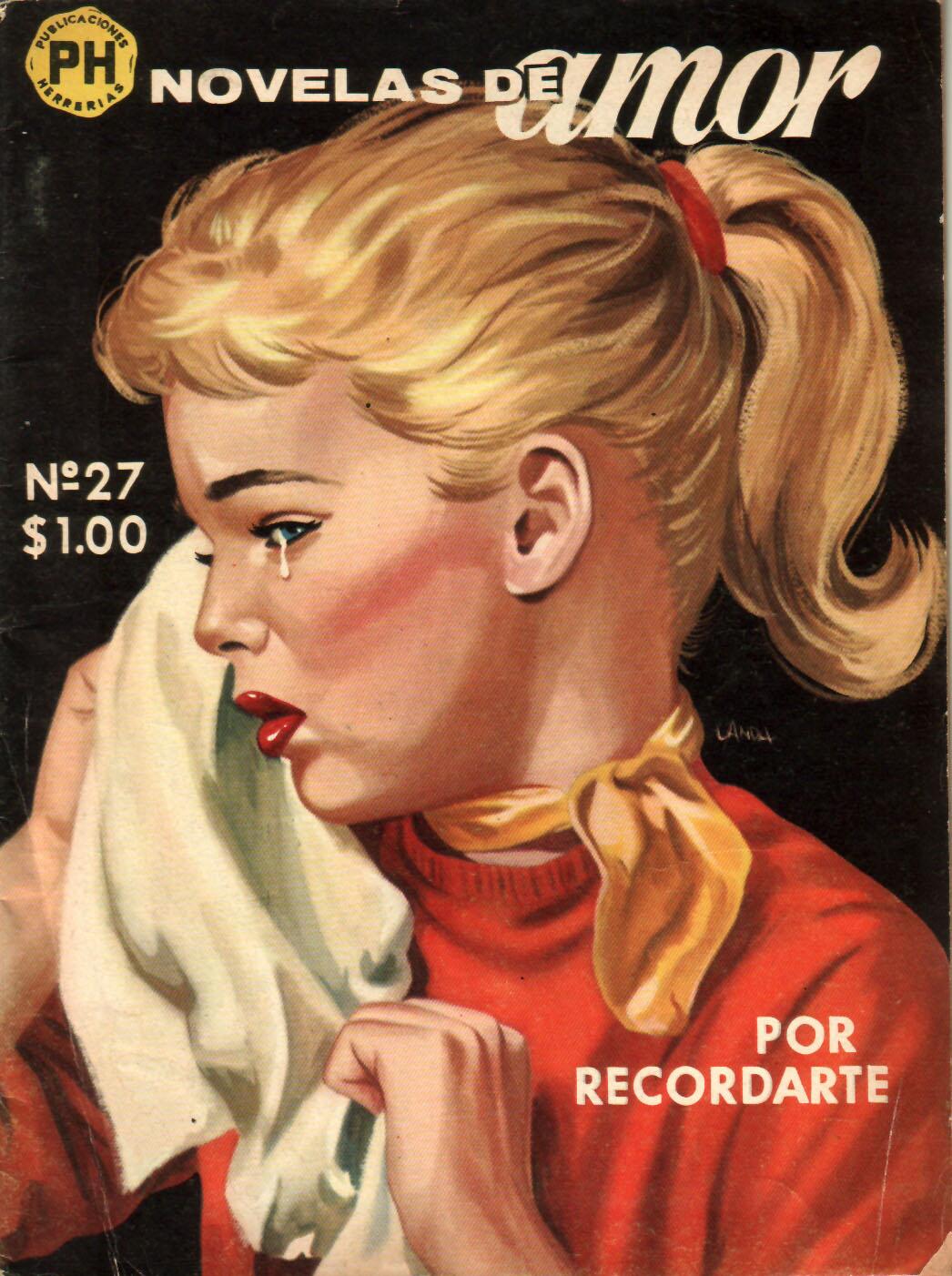 novelas de amor nº 27 15 de febrero de 1961 publicaciones herrerías ...