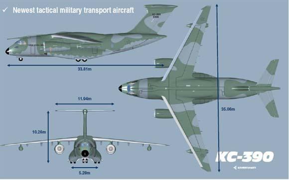 Embraer escolhe mais um fornecedor do cargueiro KC-390