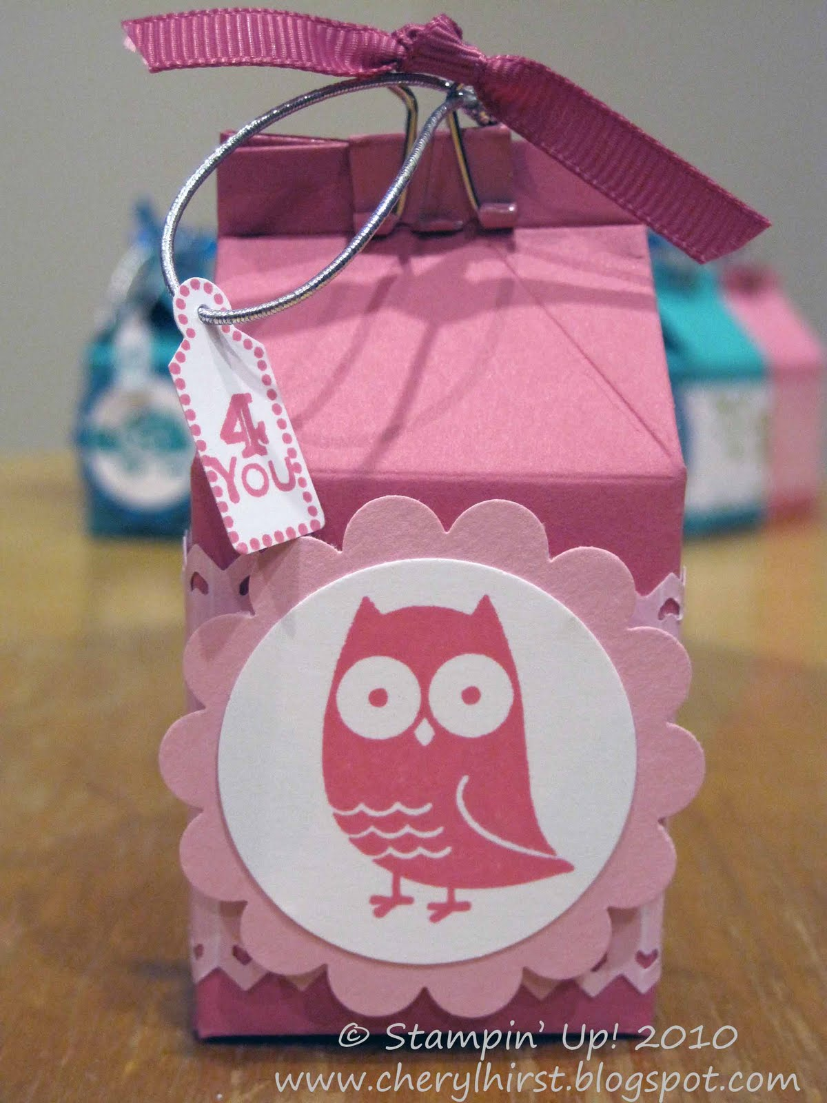 3AM Stamping: Milk Carton Die = Quick and Easy Favors